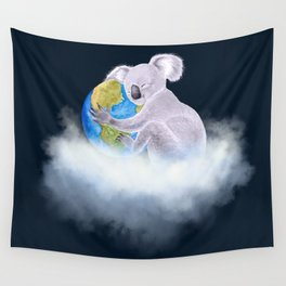 Koala in Heaven - Climate Change Awareness Wall Tapestry
