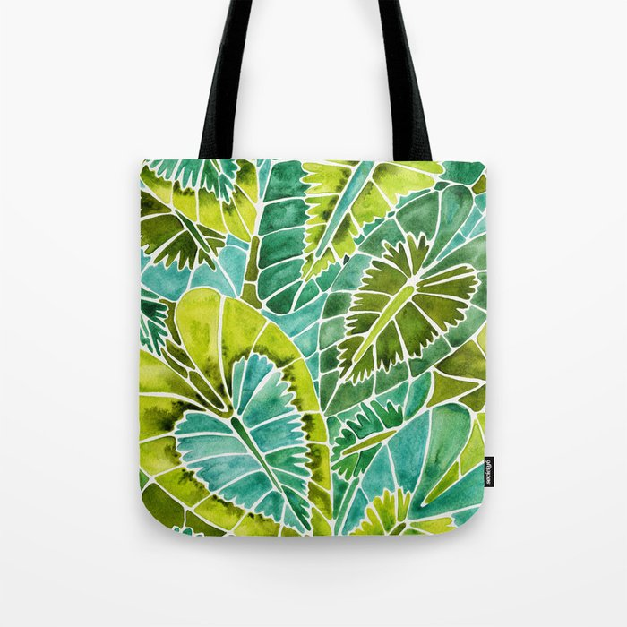 Schismatoglottis Calyptrata – Green Palette Tote Bag