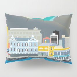 Cape Town, South Africa - Skyline Illustration by Loose Petals Pillow Sham