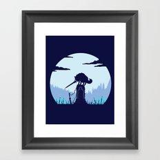 Grey Wolf Sif (Dark Souls) Framed Art Print