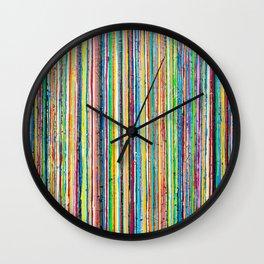 Rainbow Roll Wall Clock