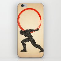 atlas iPhone & iPod Skins featuring Atlas by Dave Razor Compton Wolff