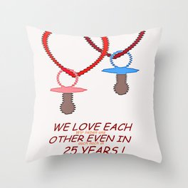 LOVE AND FUTURE. Throw Pillow