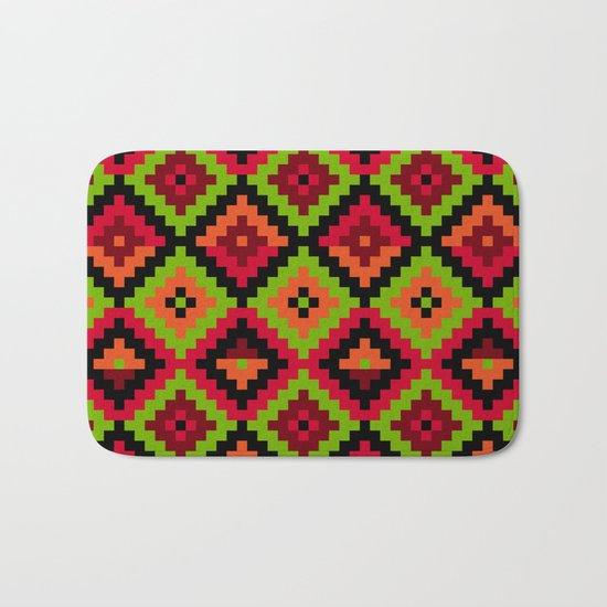 Aztec pattern - green Bath Mat