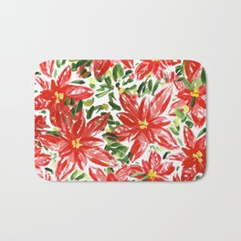 Pretty Poinsettias Bath Mat