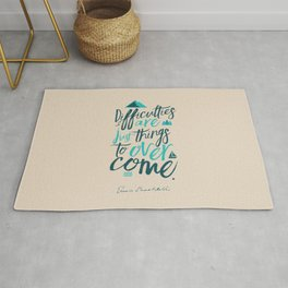Shackleton quote on difficulties, illustration, interior design, wall decoration, positive vibes Rug
