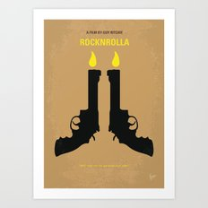 No071 My Rocknrolla minimal movie poster Art Print