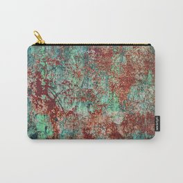 Abstract Rust on Turquoise Painting Carry-All Pouch