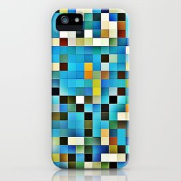 Blue glass mosaic iPhone Case