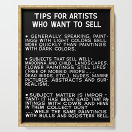 Tips For Artists in Black Serving Tray