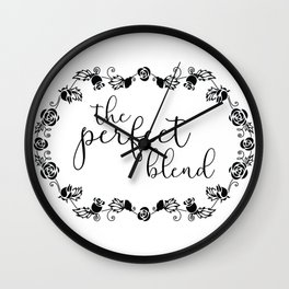 The Perfect Blend Wall Clock