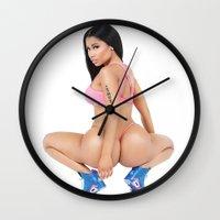 anaconda Wall Clocks featuring MY ANACONDA by Nicki Minaj Spain