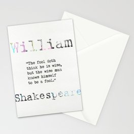 William Shakespeare quote Stationery Cards