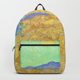 Vincent van Gogh - Wheatfield with a Reaper - Digital Remastered Edition Backpack