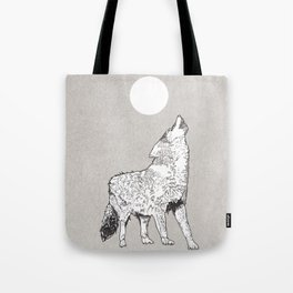 Wailing Wolf Tote Bag