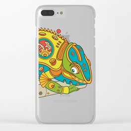 Chameleon, cool wall art for kids and adults alike Clear iPhone Case