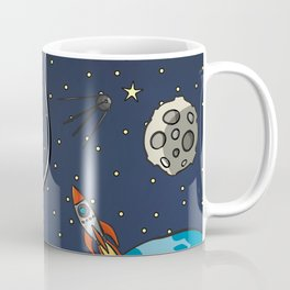 Astronaut In Space Coffee Mug