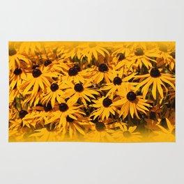 A Bed of Bloomin' Rudbeckias Rug