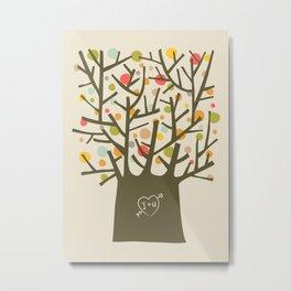 """The """"I love you"""" tree Metal Print"""