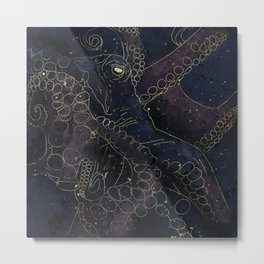 Space octopus Metal Print