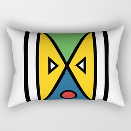 African colorful prints of geometry Rectangular Pillow