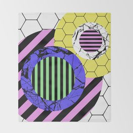 Stripes? Marble? Hex? - Random, eclectic, geometric, abstract design Throw Blanket