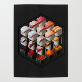 Sushi Cubed Poster