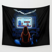 8bit Wall Tapestries featuring 8bit Who by Bamboota