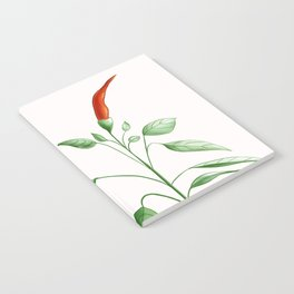 Little Hot Chili Pepper Plant Notebook