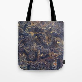 Midnight blue with Desert Sand Tote Bag