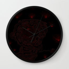 Red lights Wall Clock