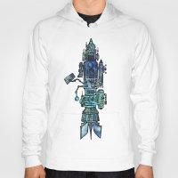 spaceship Hoodies featuring Spaceship  by Joseph Kennelty