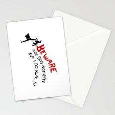 I do kung fu Stationery Cards