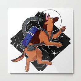 Look to the Stars #4 - Space German Shepherd (color) Metal Print