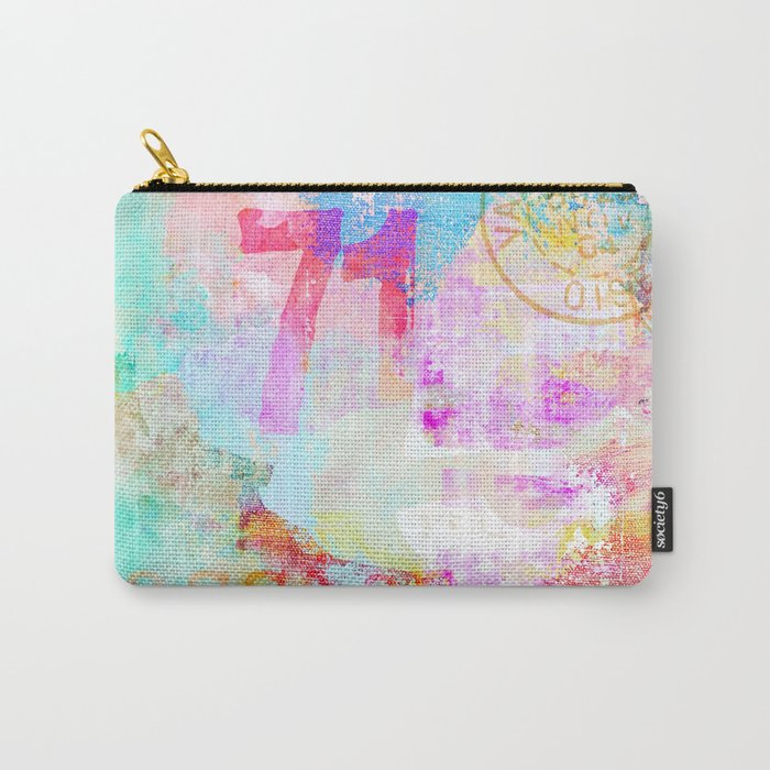 Passion mixed media colorful abstract art Carry-All Pouch