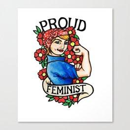 Proud Feminist Canvas Print