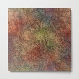 Colorful Earth Tones Brown Blue Abstract Metal Print