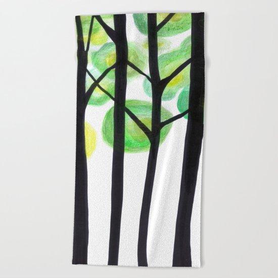 blacks trees Beach Towel