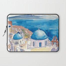 Santorini Oia View Mediterranean Dream Laptop Sleeve