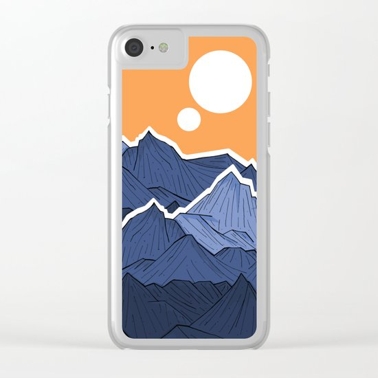 The mountains under the two suns Clear iPhone Case