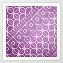 Rome - Radiant Orchid Geometric  Art Print