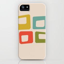 Mid-Century Modern Squares iPhone Case