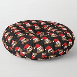 Christmas poop emoji Floor Pillow