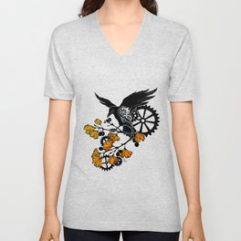 Raven and Ginkgo - Autumn Cycle Unisex V-Neck
