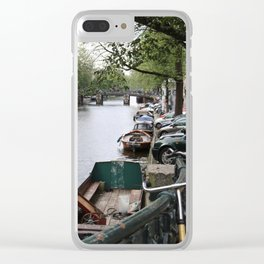 canal in the city Clear iPhone Case