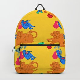 Boy Blue on Yellow Background Backpack