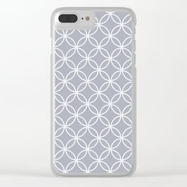 Simple gray, white pattern. Clear iPhone Case