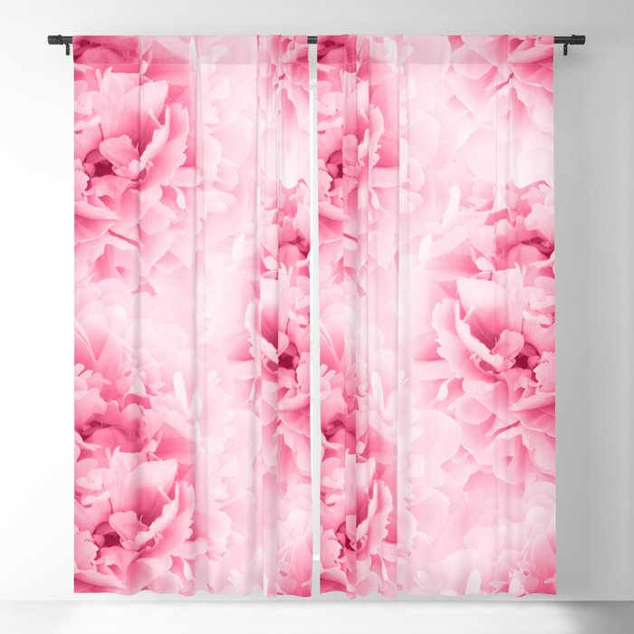 Light Red Peonies Dream #1 #floral #decor #art #society6 Blackout Curtain