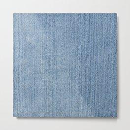 Faded Blue Denim Metal Print