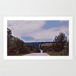 Country roads Art Print